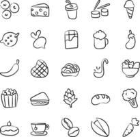 Ernährung und Essen vektor