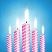 Abbildung des bunten Sets Kerzen vektor