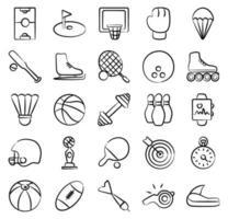 olympische Sportarten und Spiele vektor