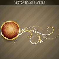 goldenes Etikett vektor