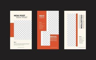 quadratische Flyer Social Media Feed Poster Vorlage vektor