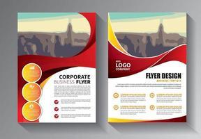 broschyrdesign, täcka modern layout, årsredovisning, affisch, flygblad i a4 med färgglada trianglar, geometriska former för teknik, vetenskap, marknad med ljus bakgrund vektor