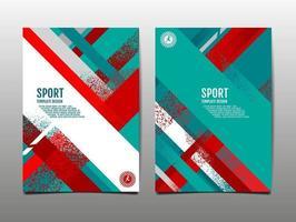 dynamisches Grunge-Sportabdeckungsset, abstrakter Hintergrund, Pinselgeschwindigkeitsbanner, Vektorillustration. vektor
