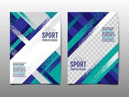 dynamischer Grunge-Sporthintergrundsatz, abstrakt, Bürstengeschwindigkeitsfahne, Vektorillustration. vektor