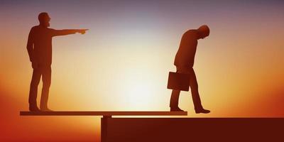 Konzept des Risikos des Missbrauchs von Autorität in Unternehmen vektor
