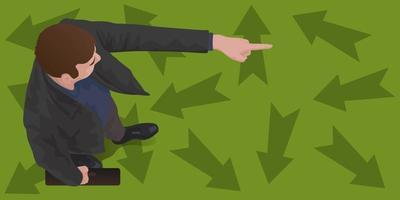 visionär ledare pekar i ny riktning vektor