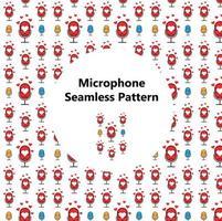 Mikrofonmuster. Perfekt für Bastelprojekte, Hintergrund, Grafikdesign, Scrapbooking und andere vektor