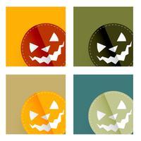 Halloween-Kartendesign vektor