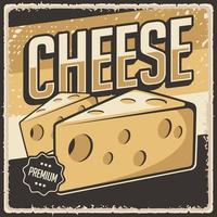 retro vintage ost affisch tecken
