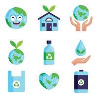 Earth Day Icon Sammlung vektor