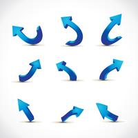 neun verschiedene pfeile vektor