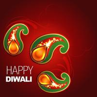 glückliches Diwali-Design vektor