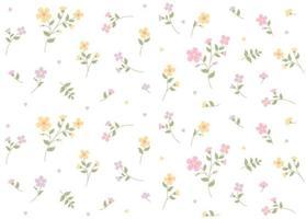 kleines romantisches Blumenmuster. einfache Musterentwurfsschablone. vektor