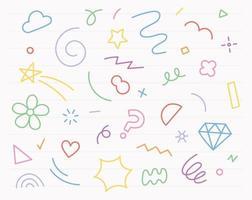Freihandkritzeleien mit farbigen Stiften. einfache Musterentwurfsschablone. vektor