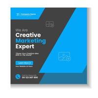 digitales Marketing Corporate Social Media Post vektor