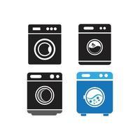 Waschmaschine Vektorsatz vektor