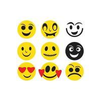 emoticon mall ansikte set vektor