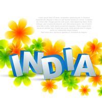 kreative indische Flagge vektor