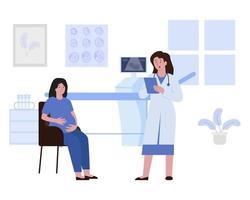 Schwangerschaftsuntersuchungen oder Schwangerschaftsvorsorge vektor