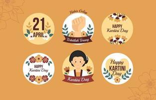 Frauenermächtigung während des Kartini-Tagesaufklebers vektor
