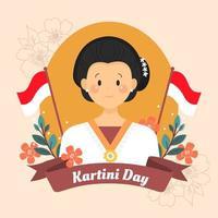 kartini der retter der indonesischen frauen vektor