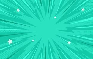 hellgrüner Comic-Halbtonhintergrund vektor