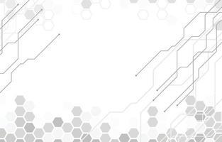 Technologie Hintergrund Design in weißer Farbe vektor