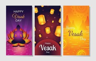 Vesak Day Banner Set Vorlage