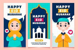 eid mubarak bannersammlung vektor