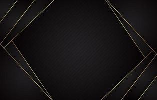 luxuriöser schwarzer Goldhintergrund vektor