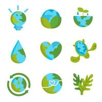 einfache Earth Day Ikone vektor