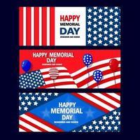 Gedenktag USA Banner vektor