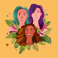 Frauen in Vielfalt vektor