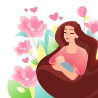 Herzlichen Glückwunsch zum Muttertag vektor