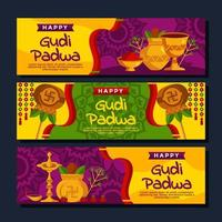 vergoldeter Topfbecher für Gudi Padwa vektor