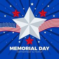 die Sterne und die amerikanische Flagge für den Helden vektor
