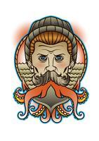 Seemann New Skull Tattoo vektor