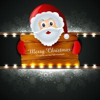 Weihnachtsmann, der Weihnachten wünscht