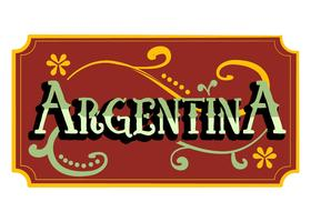 Argentinien Word Fileteado