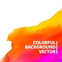 färgrik vattenfärg vektor bakgrundsdesign