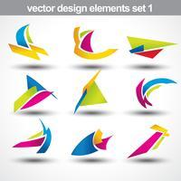 abstrakter Formvektor vektor