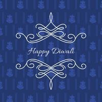 stilvolle Karte von Diwali vektor