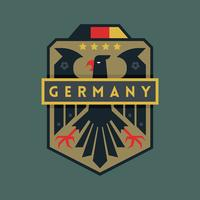 Deutschland WM Fußball-Abzeichen vektor