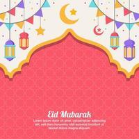 Eid Mubarak Konzept Hintergrund vektor