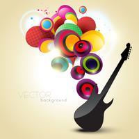 künstlerische gitarre vektor