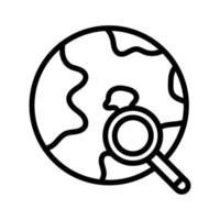 globales Suchsymbol vektor