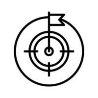 Ziel- und Zweckikone vektor