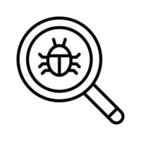 hitta buggar-ikonen vektor