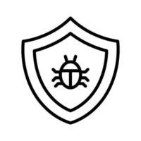 antivirus vektor ikon