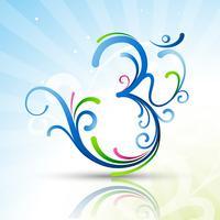 schönes Om-Symbol vektor